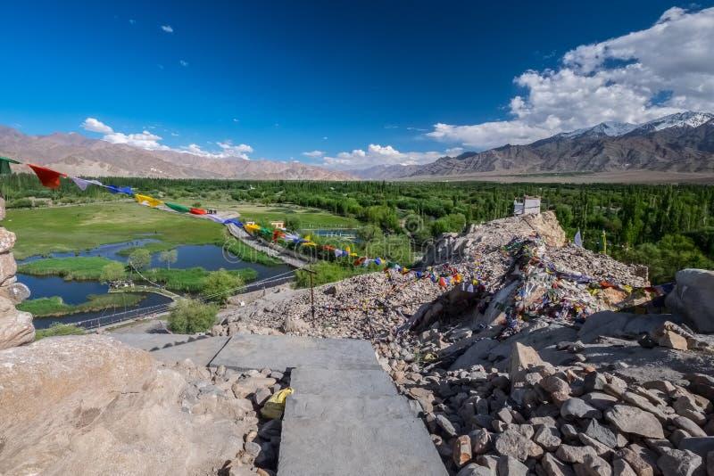 Landscape of The Shey Monastery, Leh, Ladakh, northern India on royalty free stock photography