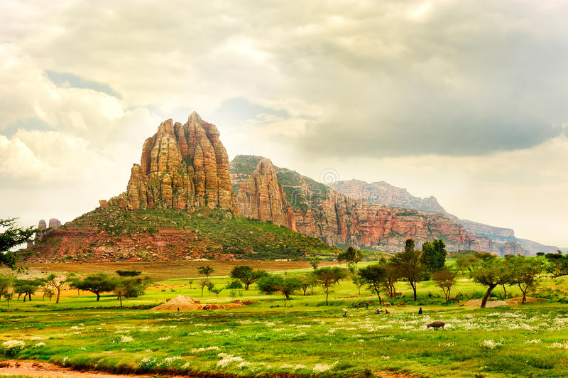 Landscape shot in Tigray province, Ethiopia, Africa royalty free stock image