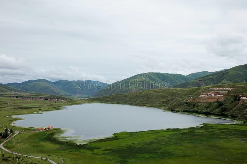 Landscape on the Sichuan highway in China royalty free stock photos
