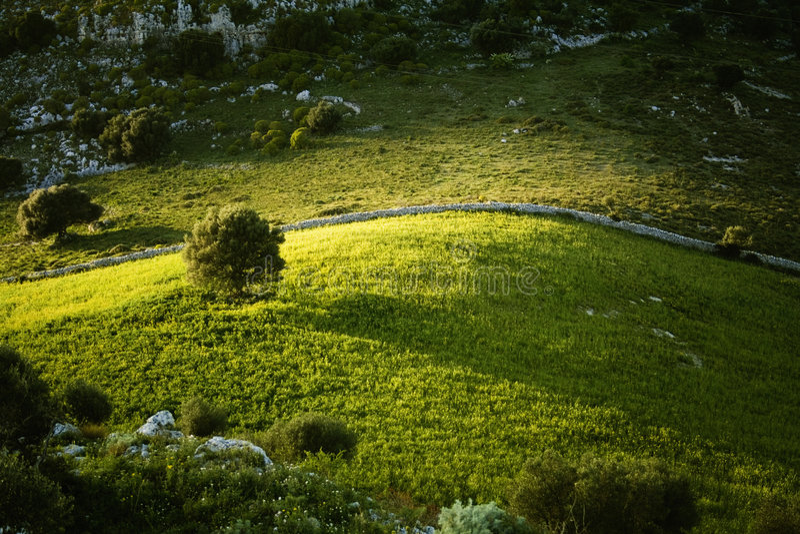landscape sicilian royaltyfri bild