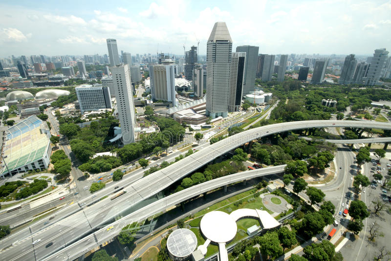 Landscape From Singapore Flyer stock image