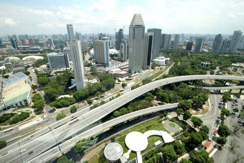 Landscape From Singapore Flyer. Bird Eye View Landscape From Singapore Flyer stock image