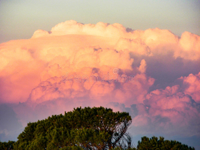 Landscape. Sky and clouds royalty free stock photo