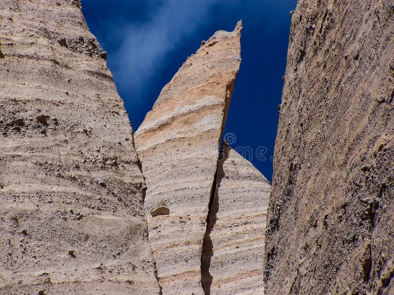 Ash Layers Hoodoo Towers Tent Rocks National Monument stock images