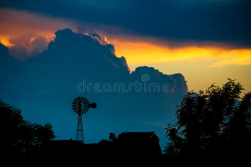 Landscape with sky and storm clouds royalty free stock photos