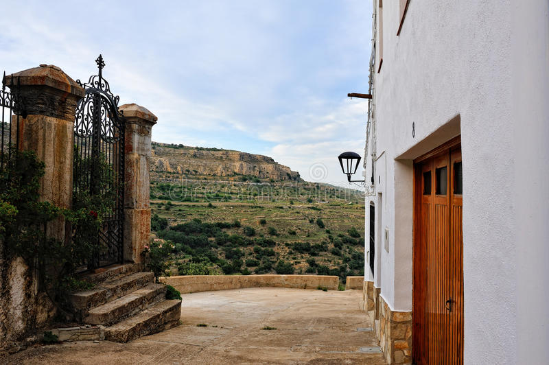 Download Landscape With Small Spanish Old Town Ares Stock Photos - Image: 25951463
