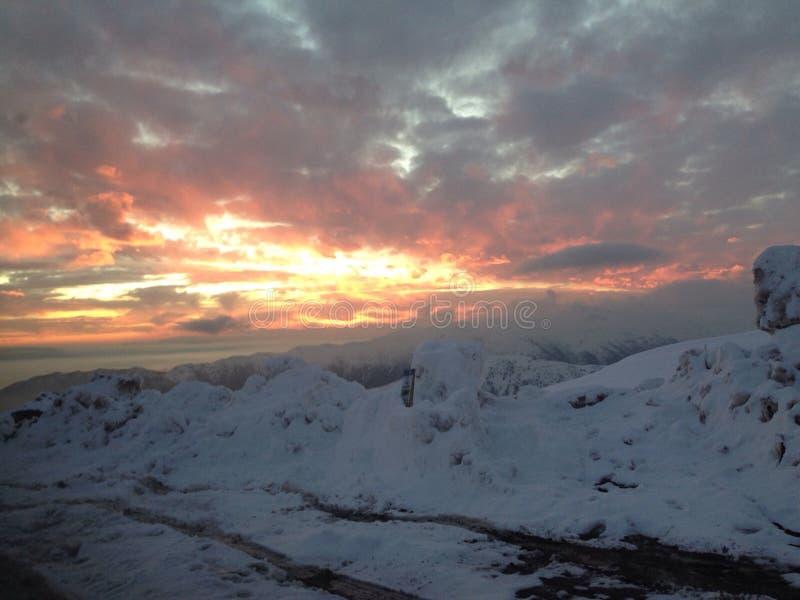 Landscape snow royalty free stock photos