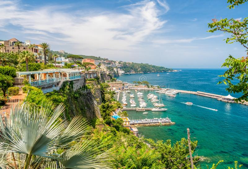 Landscape with Sorrento royalty free stock photos