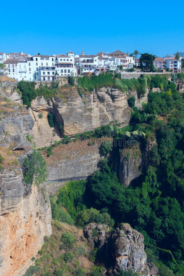 Landscape of Spanish city Ronda. Landscape of the Spanish city Ronda stock photos