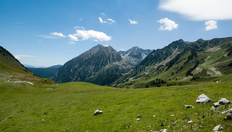 Landscape of the Spanish Pyrenees stock image