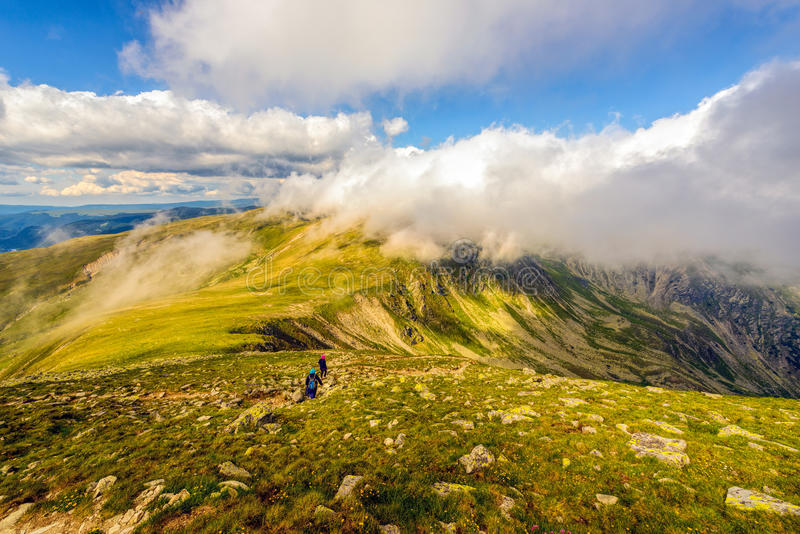 Landscape with the spectacular Parang mountains stock images