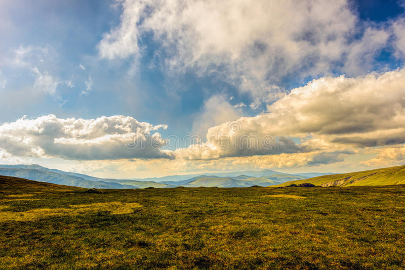 Landscape with the spectacular Parang mountains stock photo