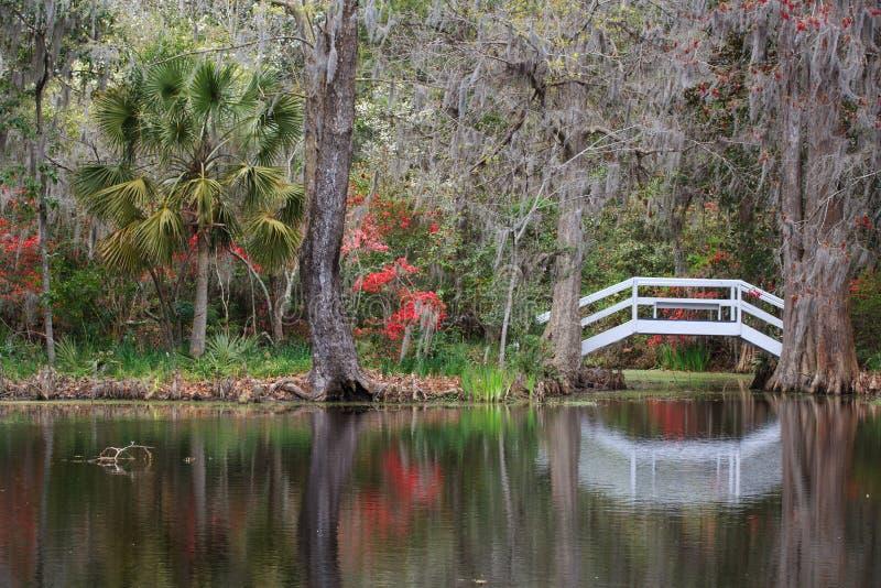 Charleston South Carolina SC Garden Bridge Pond Stock Photo