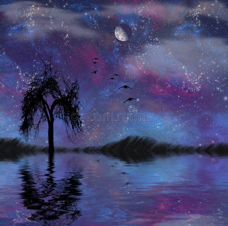 Download Landscape with stars stock illustration. Illustration of morning - 7568256