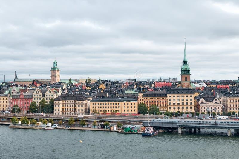 The Landscape of Stockholm city, Sweden royalty free stock image