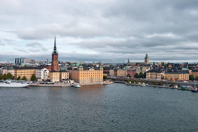 The Landscape of Stockholm city, Sweden stock images