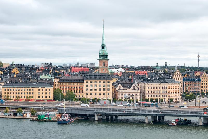 The Landscape of Stockholm city, Sweden royalty free stock photos
