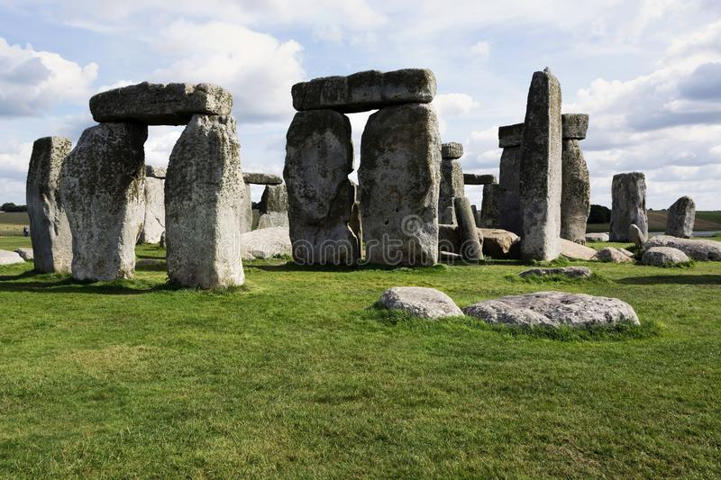 Landscape of Stonehenge in England, UNESCO World heritage Site in 15. September 2018 UK royalty free stock image