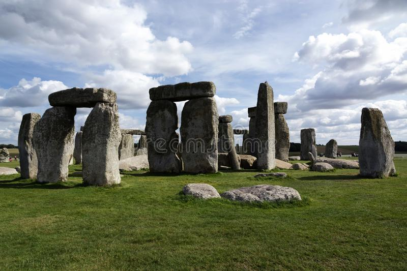 Landscape of Stonehenge in England, UNESCO World heritage Site in 15. September 2018 UK stock photos