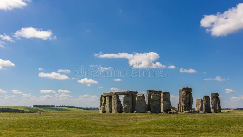 Landscape of Stonehenge stock photo
