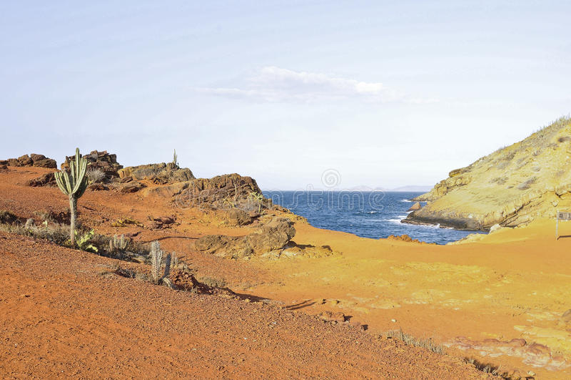 landscape of stunning Faro Island, Mochima National Park, Venezuela, South America. royalty free stock photography