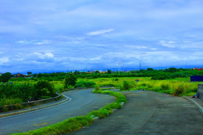 Sucat muntinlupa landscape Philippines. Landscape sucat muntinlupa Philippines to laguna lake royalty free stock image