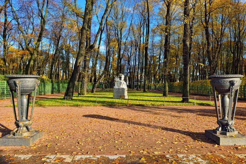 Landscape in summer garden, St-Petersburg, royalty free stock photos