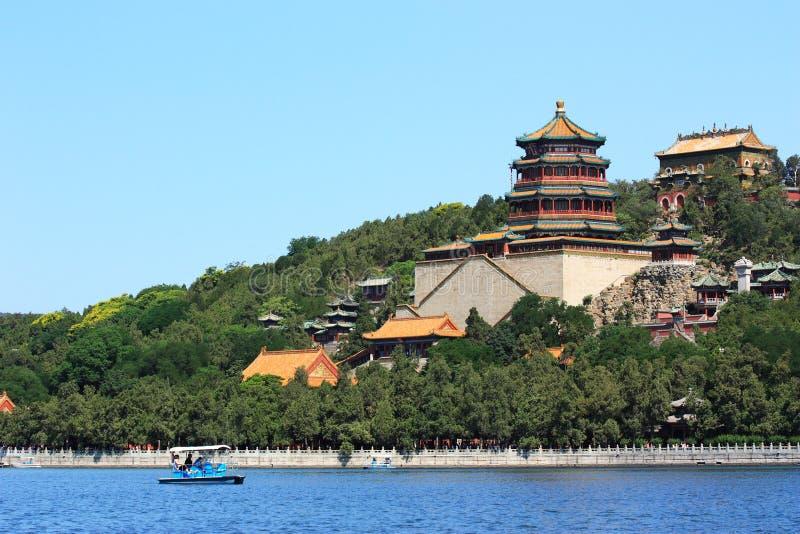 Landscape of Summer palace stock image