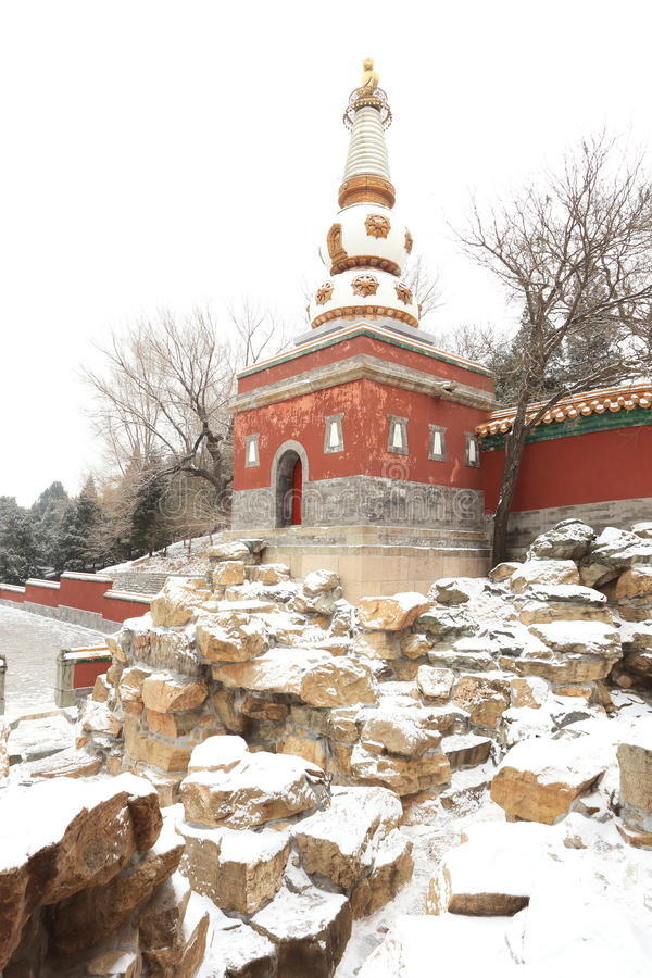 Download Landscape Of Summer Palace In Winter Stock Photography - Image: 28802622
