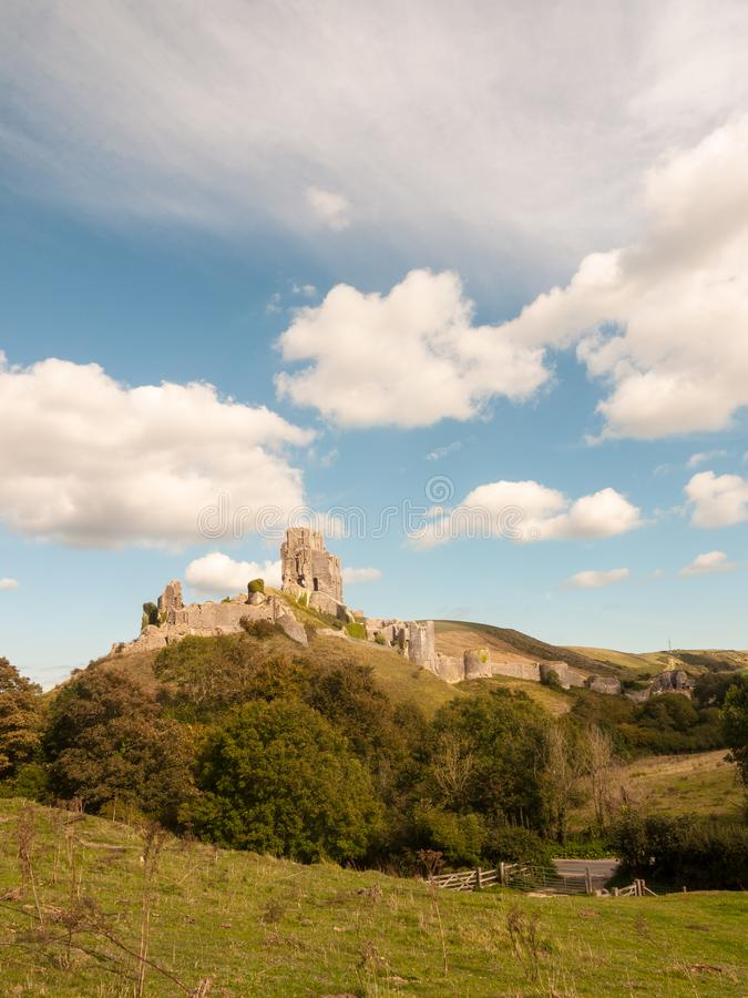 landscape summer's day corfe castle special ruins medieval old n royalty free stock image