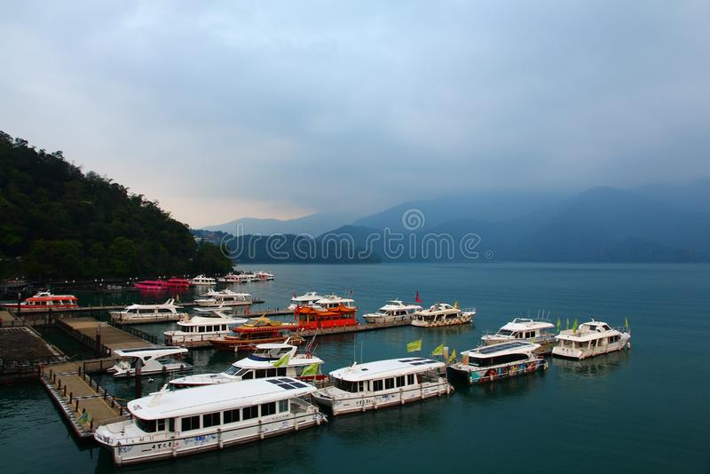 Landscape of Sun-Moon Lake in Taiwan royalty free stock images