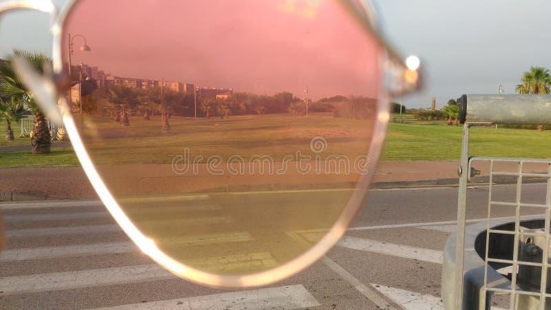 Landscape in sunglasses stock photo