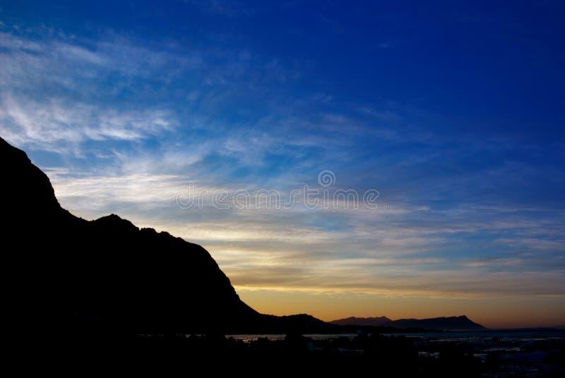 Landscape at sunrise. stock photos