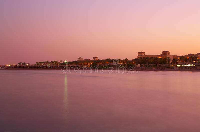 Download Landscape Sunset On Red Sea - Pink Water, Sky Stock Photo - Image: 18386354