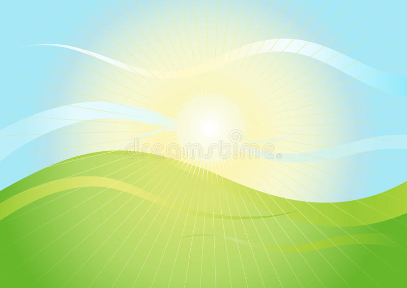 Download Landscape in sunshine stock vector. Image of cartoon - 14283613