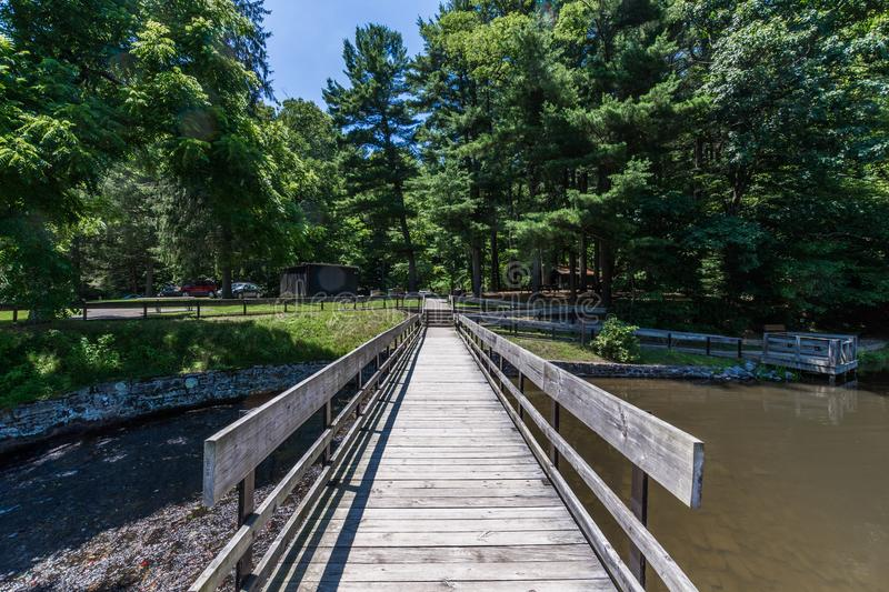 Landscape of the Swimming and Fishing Area in Colonel Denning St royalty free stock photos
