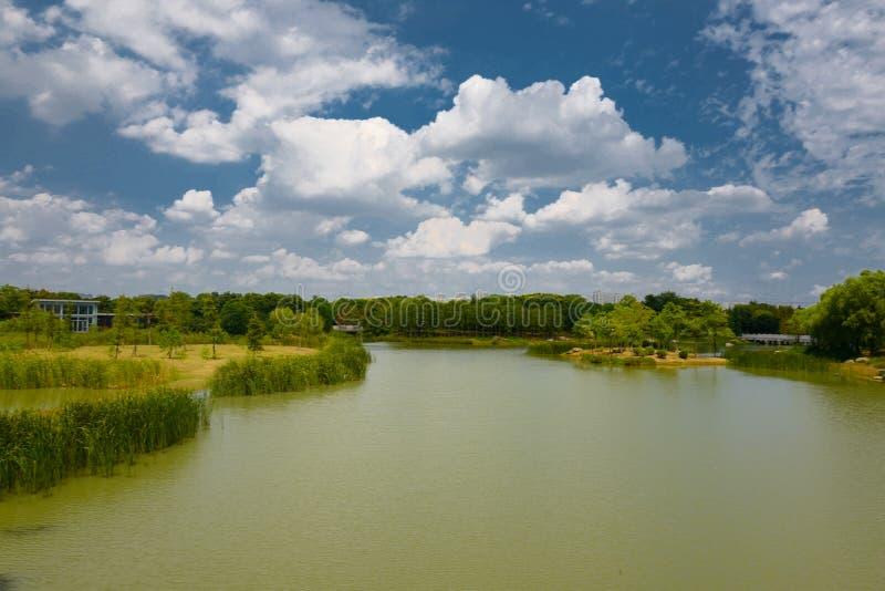 The landscape of Taihu lake stock photo