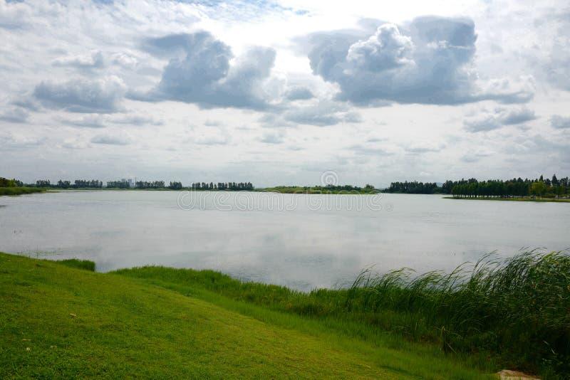 The landscape of Taihu lake stock photography