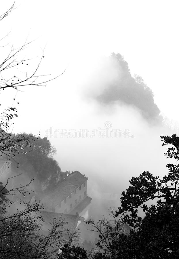Landscape of taoist and zen. In wudang mountains,china stock photography