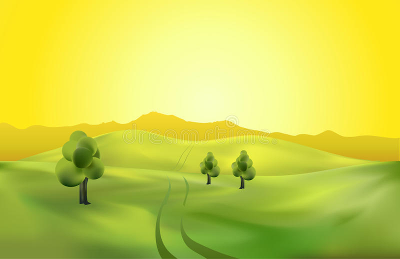 Download Landscape template stock vector. Illustration of drawing - 43266105