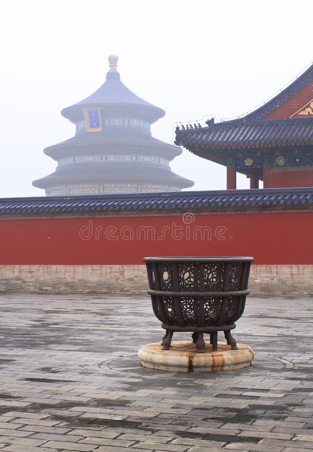 Landscape of the Temple of Heaven royalty free stock photography