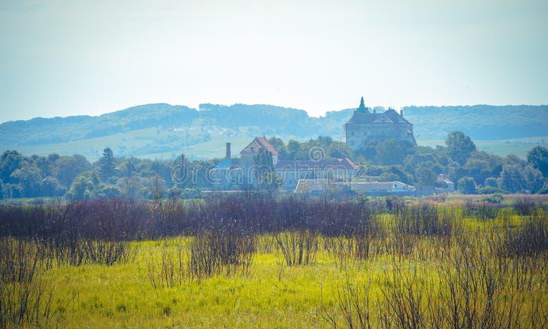 Landscape terrain far from Olesko Castle royalty free stock image