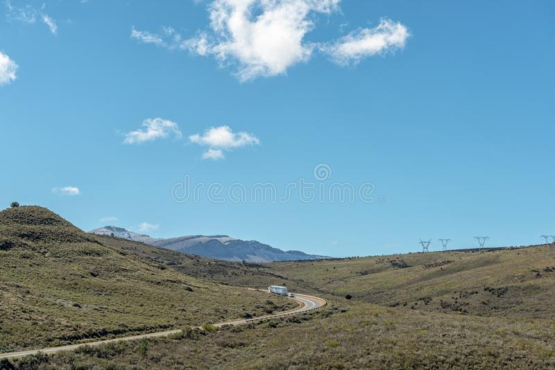Landscape on Theronsberg Mountain Pass near Ceres royalty free stock photo