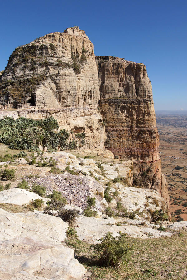 Landscape, Tigray, Ethiopia, Africa. Landscape in Tigray province close to Adigrat, Ethiopia, Africa stock images