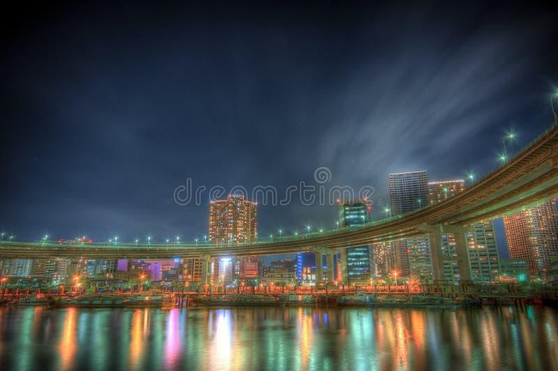 Landscape@Tokyo de nuit photos libres de droits