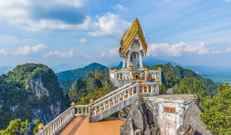 The top of Tiger Cave temple, Wat Tham Suea, Krabi region, Thailand royalty free stock image