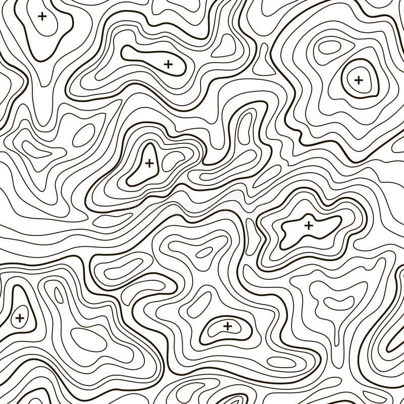 Landscape Topographical Map Line Background. Vector stock illustration