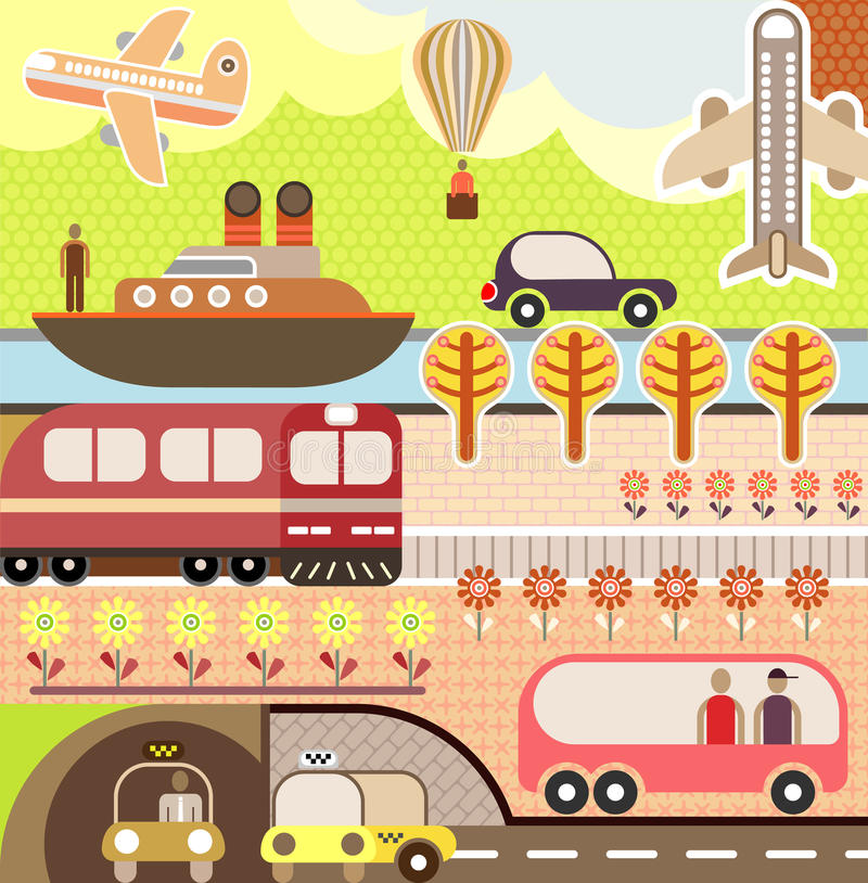 Download Landscape - Tourism And Travel Illustration Stock Vector - Image: 23598153