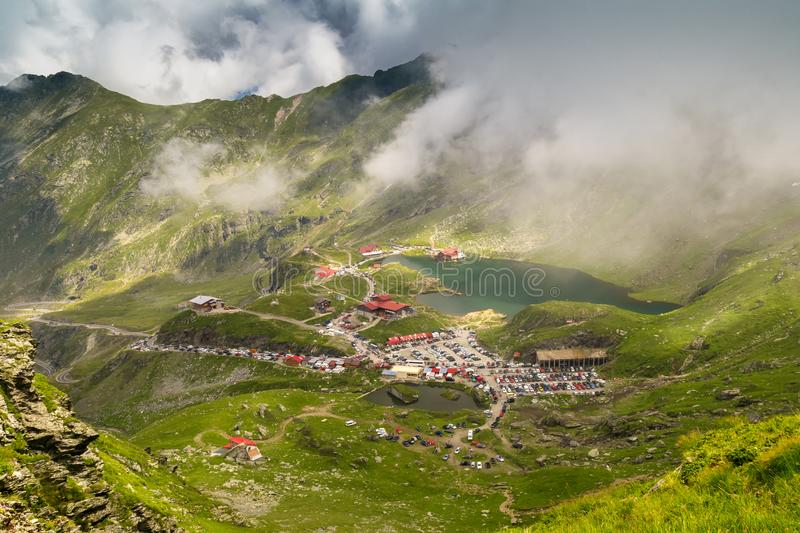 Landscape from Transfagarasan Balea glacier lake mountains in a royalty free stock images