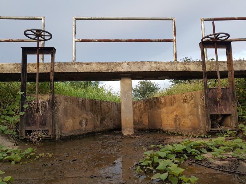 Bridge and water door stock photo